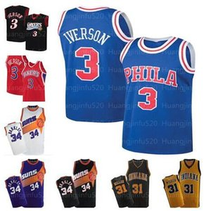 MEN Steve 13 Nash Charles 34 Barkley All 3 Iverson Jersey Julius 6 Erving Reggie 31 Miller