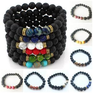 Turquoise Beads Bracelet Fashion Crafts Rock Chakra Charm Natural Lava Eye Men Stone Tiger beauty888 BkxWX