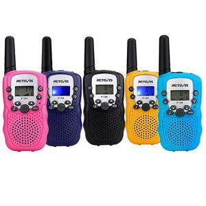 Um par Retevis Rt -388 Rádio Mini Walkie Talkie Crianças 0 .5w 8 / 22ch Display LCD Amateur Radio Two -Way Talkly Crianças Transceiver