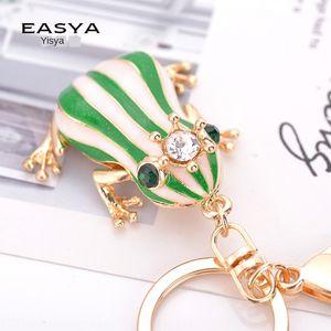 CyDex Creative New Frog Prince-clé chaîne en alliage de zinc pendentif sac de mode strass couronne sac de mode grenouille pendentif décoratif