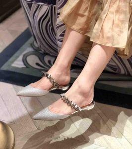 Luxe-marchi Sexy Lady Estate a punta le dita dei piedi inferiore rossa Pianeta Choc Studded Ankle Strap Slippers Donna Sandali Abito Flats festa di nozze