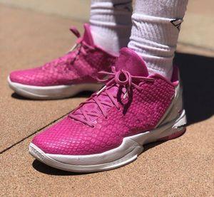Think Pink Zoom Mamba Mentalità 6 Scarpe Protro Kay Yow pallacanestro degli uomini con la scatola di vendita Mamba Mentalità 6 Sport Shoes Size 7-12