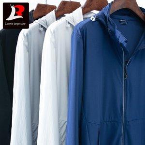 Sonnenschutz-Kleidung der Männer atmungsaktive Haut Windjacke dünner Fettsportmantel Sunscreen Windjacke Fett Outdoor-Jacke c04MP