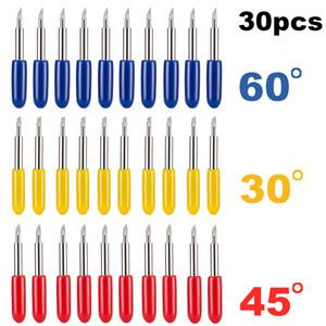 플로터 비닐 블레이드 커터 나이프 블레이드 Cricut 기계 밀링 커터 조각 도구를 절단 연습장 30/45/60 학위 롤랜드 Cricut