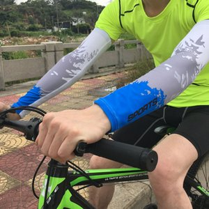 Bisiklet Kol Kollu 1 Çiftler Nefes UV Güneş Koruma Oversleeves Erkekler Kadınlar Kolu Isıtıcı Bisiklet Basketbol Tırmanma Buz İpek