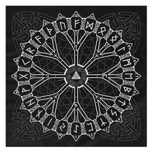 Фланель происхождения карт Таро Гадание фланель Таро Скатерть Rune N58b Pad Nordic викинги Tree bbyxWO bdebaby