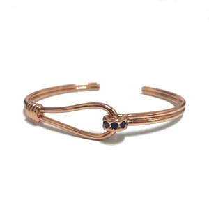 1 pcs New Brand High Grade Jewelry Men Woman Micro Paved Zircons Open Cuff Cz Beads Bangle Lucky Bracelets Fashion Jewelry