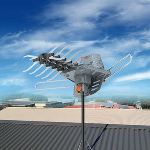 Mile 1080P 150 Outdoor Amplified HD TV Antenna Digital Signal UHF VHF 360°Rotation Without Stand US in Stock