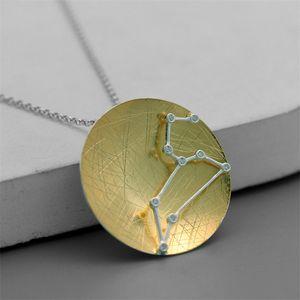 Collana zodiacale iNature 925 Sterling Silver 12 costellazione segno ciondolo collane per le donne Regali