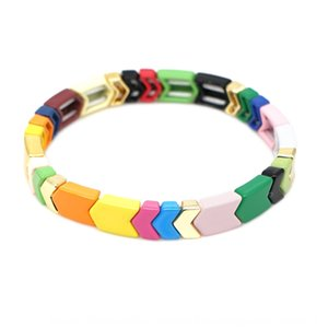 Go2Boho2019 autunno Nuovo ins colore Internet Celebrity mix-and-match braccialetto della vernice di colore della lega-preservare uomini e braccialetto delle donne c9MaJ c9M