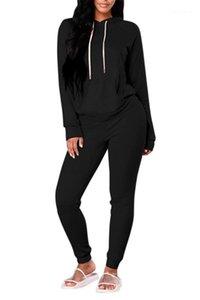 Сплошной цвет Толстовка с капюшоном с длинным рукавом Женский Спорт Повседневная одежда Reset 2020 Женщины дизайнер Siut Модный