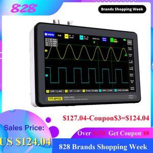 FNIRSI-1013D 디지털 태블릿 오실로스코프 듀얼 채널 100M 1GS 대역폭 샘플링 레이트 태블릿 디지털 오실로스코프 osciloscopio