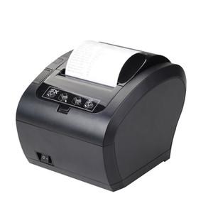 Nueva llegada Impresora de recibos Negro Alta velocidad de interfaz dual de 80 mm Impresora térmica con la impresora POS cortador
