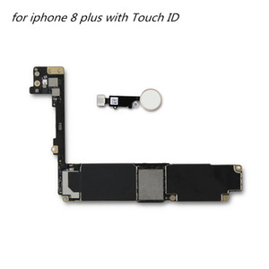 Mobile phone motherboard parts for iphone 8 plus with Touch ID Unlocked Mainboard for iPhone 8 plus Logic Board