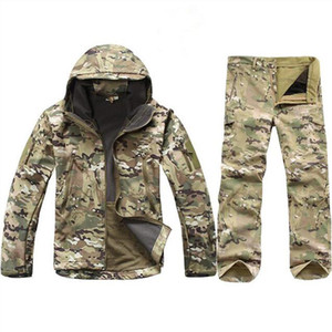 Tad Gear Tactical Softshell Camouflage Jacket Set Men Army Giacca a vento Impermeabile Huntingclothes Set giacca militare Andpants