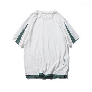 Imprimir Mens Designer Tshirts Tshirts Moda de manga corta Conlutores para hombre Tshirts suelta Casual Sencillez Machos Ropa con paneles