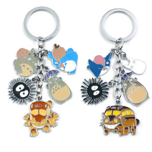 New European and American Hayao Miyazaki's Totoro key chain, girls bag hanging ornaments, exquisite ballerina girl car pendant