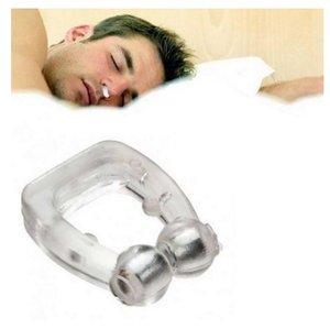 luxury- BearPaw Santé silicone magnétique Anti Snore Pince-nez unisexe Stop Ronflement Anti ronflement sommeil siliconeNotre magnétique outils de clip