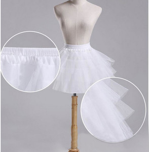 Petticoat Children 3 Layers Hoopless Short Petticoats Flower Girl Dress Crinoline for Wedding Little Girls Kids Child Underskirt