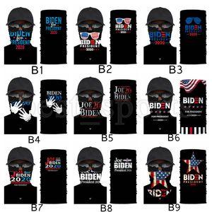 Trump Maschera 2020 US Flag mascherina protettiva maschere Outdoor Ciclismo sciarpa magica Bandana Turbante Presidente Trump Biden Elezione CYZ2722 100Pcs