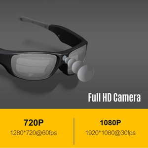 Sunshine IP55 Waterproof Smart Video Recording Sunglasses 1080P FHD Outdoor Sports Action Camera with Safety Lenses Sport Design