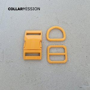 Розничная торговля (металлическая пряжка + регулировка пряжки + D кольцо / комплект) DIY ошейник оранжевого 25мм лямки шитья аксессуар спрей набор краска пряжка