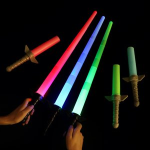 Luminous toys multi color telescopic lightsaber star ball war children's toys children's gifts role playing props Lightsaber play