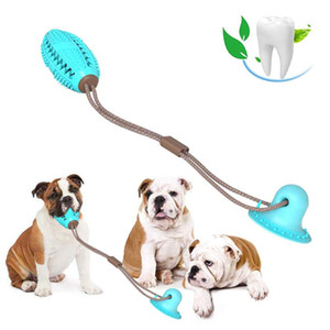 Pet Dog Toys Silicon Suction Cup Tug Dog Toy Dogs Push Ball Toy Pet Leakage Food Toys Pet Tooth Cleaning Dogs Toothbrush Brush