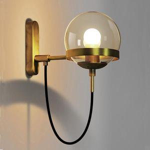 Lampade Nordic parete Forma moderna applique lampada LED Scala in post-moderna rustici antichi Edison Glass sferica