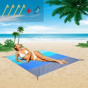 Yeni degrade Meal bez yemek renk plaj açık çayır mat taşınabilir piknik battaniye cep piknik bez su nem geçirmez mat Nzi
