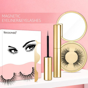 2020 New Hot Magnetic Liquid Eyeliner & Magnetic False Eyelashes & Tweezer Set Waterproof Long Lasting Eyeliner False Eyelashes