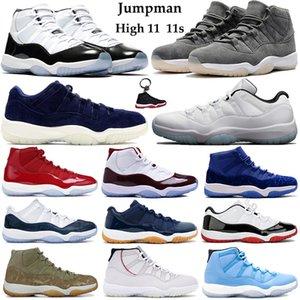 Concord 45 11s basquete masculino Shoes Serpente Marinha Low Light óssea rosa Platinum Tint Space Jam 11 Esporte Formador