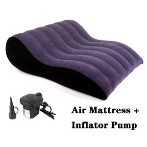 PF3206 portable Sex Furniture sofa pillow Sex position assist inflatable adult air mattress Ramps Cushions with inflator pump