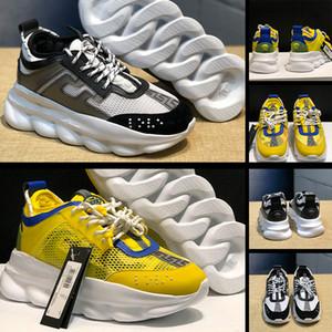 VERSACE JEANS COUTURE  sapatos de contraste 2020 sapatos de plataforma cor dos homens e sapatos femininos rodada toe sapato laço exterior casuais esportivas