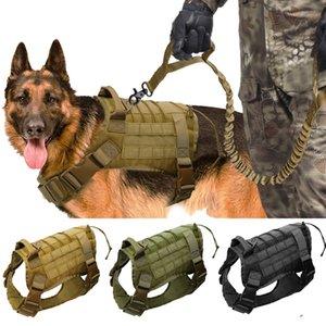 Militaire tactique grand travail Harnais en nylon chien Bungee Pour Leash K9 German Shepherd