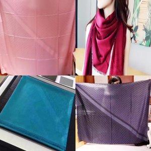 gran bufanda cuadrada cuadrada nuevo estilo bufanda de algodón jacquard Da misma letra S Jacquard pañuelo