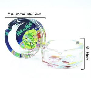 Le nouveau accessoires cendrier en verre autocollant de bande dessinée rick Cendrier fumeurs verre cendrier Livraison gratuite en stock