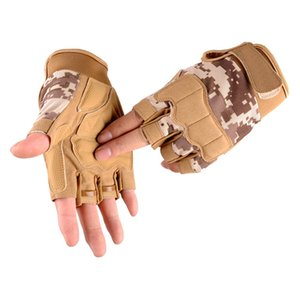 Army Tactical Half finger Bicycle Glove Camouflage Men Women Military Outdoor Sports Climbing Fitness Gloves Special Forces S64