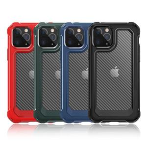 iPhone 11 Pro Max XR XS Max X 6 7 8 Artı Premium Kalite Karbon Elyaf Darbeye Zırh Telefon Kılıfı Conque İçin