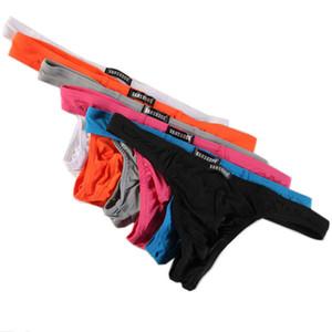 6 Pcs lot Mens Panties Underwear Sexy Smooth Underwear Briefs Fetish Gays Mini Bikini Thongs Ice Silk Triangle Pants Underpants
