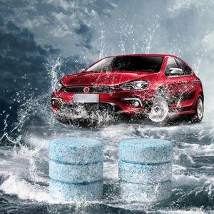 الزجاج الأمامي 6PCS / LOT السيارات المدمجة زجاج الغسالة نظيفة منظف منفعل أقراص منظفات ممسحة الزجاج الأمامي لحظة الصلبة WasherFree شحن