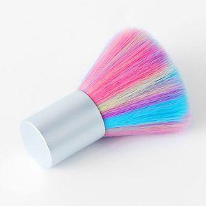 Горячая продажа Радуга Soft Nail Art Dust Brush UV Gel акриловая пудра Dust Remover DIY красоты Маникюр Очистка Инструменты для ухода за ногтями салон Инструменты