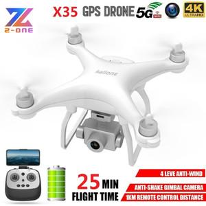 X35 aviones no tripulados con cámara HD 4K GPS WiFi 5G Profissional RC Quadcopter de motor sin escobillas Drones cardán estabilizador 25 minutos VS K777