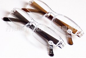 Wholesale Fashion Plastic Reading Glasses, TR90 Mini Rimless Presbyopic Pocket Reader, Design Optics Reading Glasses For Men & Women a5BM#