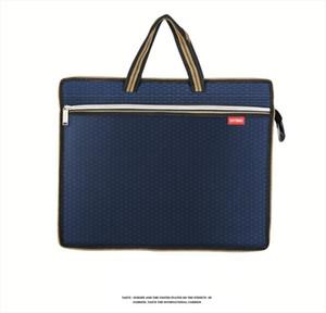 Portable A4 file bag zipper multi layer business men women handbag briefcase canvas office conference bag Increase size