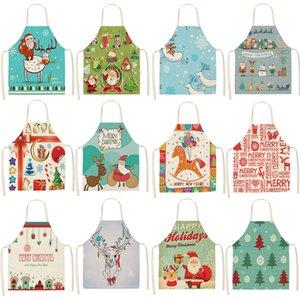 1 Adet Noel Önlük Geyik kar tanesi Pinafore Pamuk Keten Önlükleri 53 * Ev Mutfak için 65cm Kadın Yetişkin Bibs Pişirme CM1003 Pişirme