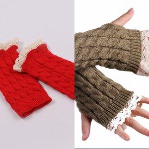 Yiwu düz güzel dantel uzar bileklik Sıcak bilek kayışı Dantel bileklik kış kadın sıcak yarım parmak eldiven örme