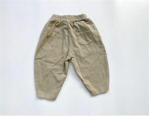 FM Korean Quality INS Autumn Kids Little Boys Trousers Pants Tatting Cotton Patchwork Winter Elastic Wasit