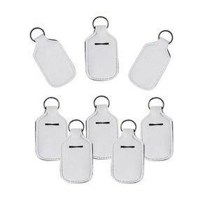 Desinfectante de manos 30ml titular de la botella en blanco Colores de impresión neopreno jabón líquido titular de la botella llavero Bolsas DDA406