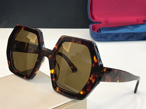 Nouvelle vente populaire 0708 de lunettes de soleil design pour femmes hexagonales assiettes pleine cadre de qualité supérieure de qualité supérieure dame généreuse style UV400 lentille 0708s